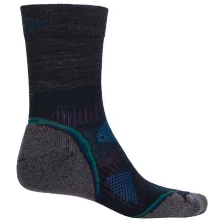 SmartWool PhD Outdoor Light Hiking Socks - Merino Wool, Crew (For Men and Women) in Black/Blue - Closeouts