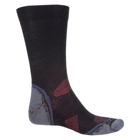 SmartWool PhD Outdoor Light Hiking Socks - Merino Wool, Crew (For Men and Women) in Black/Graphite