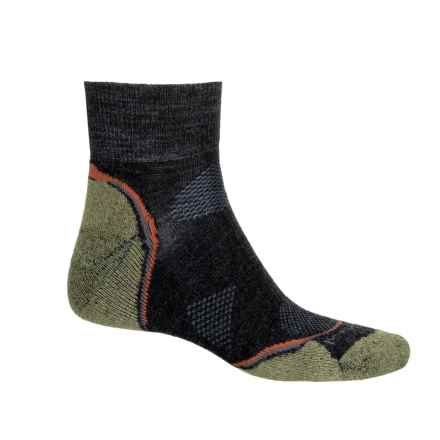 SmartWool PhD Outdoor Light Hiking Socks - Merino Wool, Crew (For Men and Women) in Charcoal/Grass - Closeouts