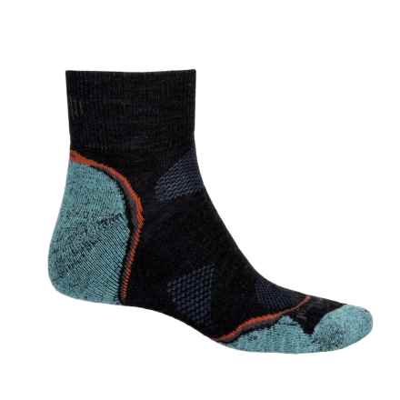 SmartWool PhD Outdoor Light Hiking Socks - Merino Wool, Crew (For Men and Women) in Charcoal Heather/Glacial - Closeouts