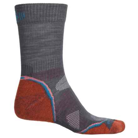 SmartWool PhD Outdoor Light Hiking Socks - Merino Wool, Crew (For Men and Women) in Graphite/Orange - Closeouts