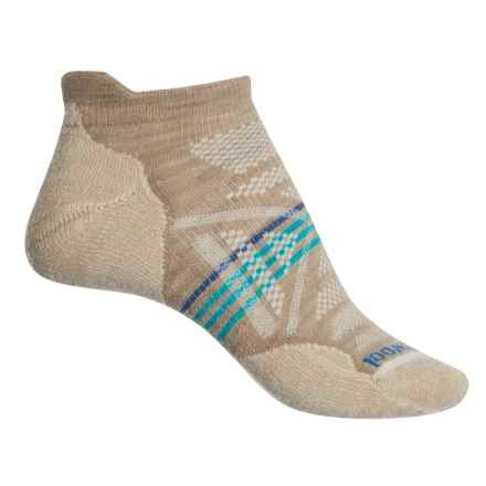 SmartWool PhD Outdoor Light Micro Socks - Merino Wool, Below the Ankle (For Women) in Oatmeal - Closeouts