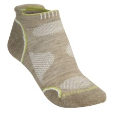 SmartWool PhD Outdoor Light Micro Socks - Merino Wool (For Women) in Oatmeal/Key Lime - 2nds
