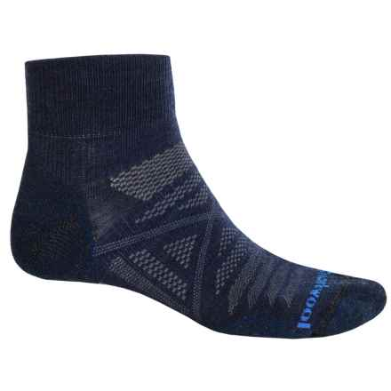 SmartWool PhD Outdoor Light Mini Socks - Merino Wool, Ankle (For Men and Women) in Deep Navy/Black - 2nds