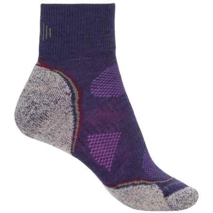 SmartWool PhD Outdoor Light Mini Socks - Merino Wool, Ankle (For Women) in Imperial Purple/Heather Grey - Closeouts