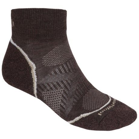 SmartWool PhD Outdoor Light Mini Socks - Merino Wool (For Men and Women) in Chestnut