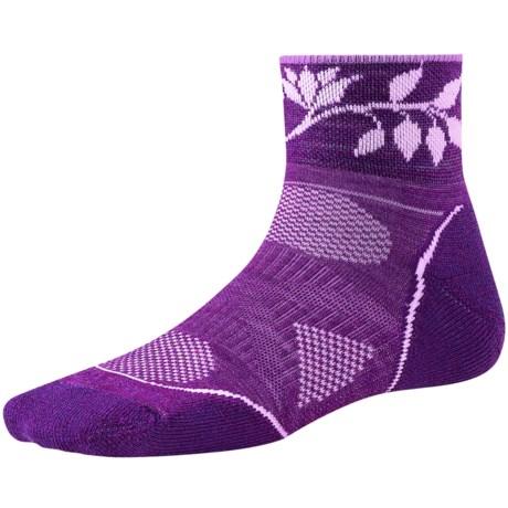 SmartWool PhD Outdoor Light Mini Socks - Merino Wool (For Women) in Purple Dahlia