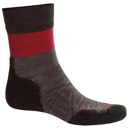 SmartWool PhD Outdoor Light Pattern Socks - Merino Wool, 3/4 Crew (For Men) in Taupe - 2nds
