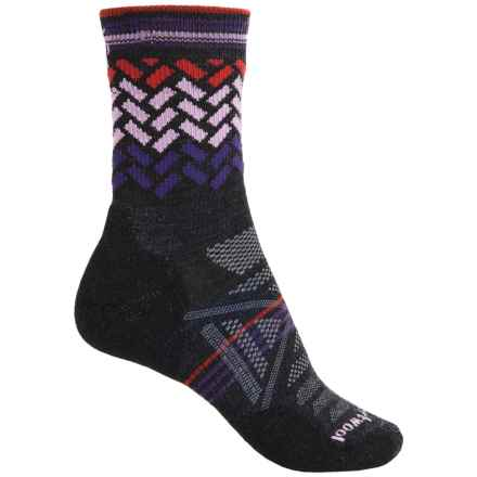 SmartWool PhD Outdoor Light Pattern Socks - Merino Wool, 3/4 Crew (For Women) in Charcoal - Closeouts