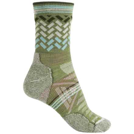 SmartWool PhD Outdoor Light Pattern Socks - Merino Wool, 3/4 Crew (For Women) in Light Loden - Closeouts