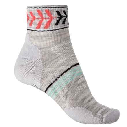 SmartWool PhD Outdoor Light Pattern Socks - Merino Wool, Ankle (For Women) in Ash - 2nds