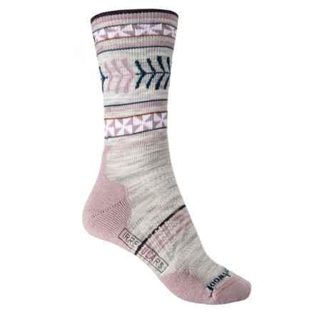 SmartWool PhD Outdoor Light Pattern Socks - Merino Wool, Crew (For Women) in Ash - 2nds