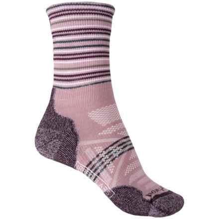 SmartWool PhD Outdoor Light Pattern Socks - Merino Wool, Quarter Crew (For Women) in Woodrose - 2nds