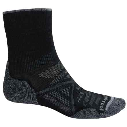 SmartWool PhD Outdoor Light Socks - Merino Wool, 3/4 Crew (For Men) in Black - 2nds