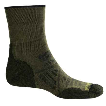 SmartWool PhD Outdoor Light Socks - Merino Wool, 3/4 Crew (For Men) in Loden - 2nds