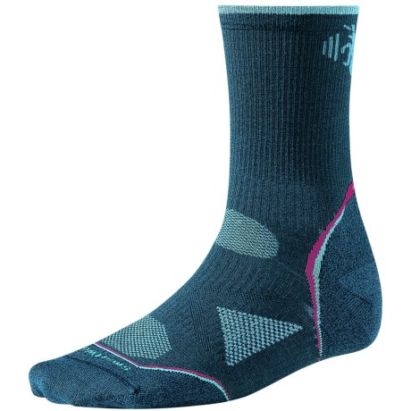 SmartWool PhD Outdoor Light Socks - Merino Wool, 3/4 Crew (For Women) in Deep Sea Heather