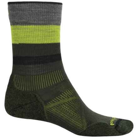 SmartWool PhD Outdoor Light Socks - Merino Wool, Crew (For Men and Women) in Forest - Closeouts