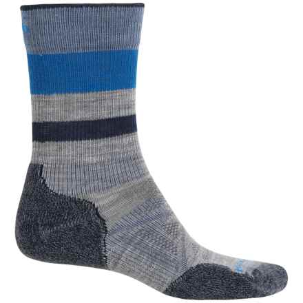 SmartWool PhD Outdoor Light Socks - Merino Wool, Crew (For Men and Women) in Light Gray - Closeouts