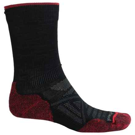 SmartWool PhD Outdoor Light Socks - Merino Wool, Crew (For Men) in Black - 2nds