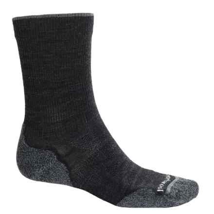 SmartWool PhD Outdoor Light Socks - Merino Wool, Crew (For Men) in Charcoal - 2nds