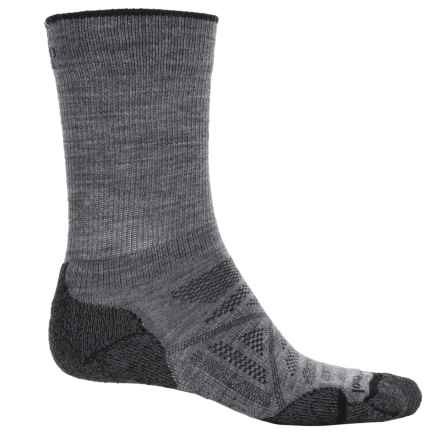 SmartWool PhD Outdoor Light Socks - Merino Wool, Crew (For Men) in Medium Gray - 2nds