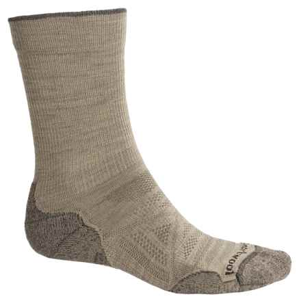 SmartWool PhD Outdoor Light Socks - Merino Wool, Crew (For Men) in Oatmeal - 2nds