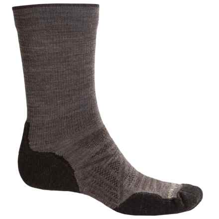 SmartWool PhD Outdoor Light Socks - Merino Wool, Crew (For Men) in Taupe - 2nds