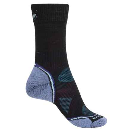 SmartWool PhD Outdoor Light Socks - Merino Wool, Crew (For Women) in Black/Purple - Closeouts