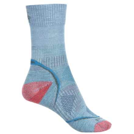 SmartWool PhD Outdoor Light Socks - Merino Wool, Crew (For Women) in Clearwater - Closeouts