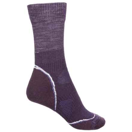 SmartWool PhD Outdoor Light Socks - Merino Wool, Crew (For Women) in Deep Purple - Closeouts