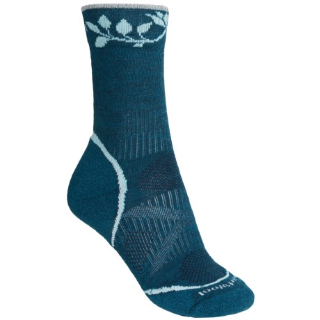 SmartWool PhD Outdoor Light Socks - Merino Wool, Crew (For Women) in Deep Sea