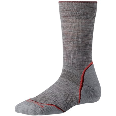 SmartWool PhD Outdoor Light Socks - Merino Wool, Crew (For Women) in Light Grey