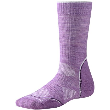 SmartWool PhD Outdoor Light Socks - Merino Wool, Crew (For Women) in Lilac