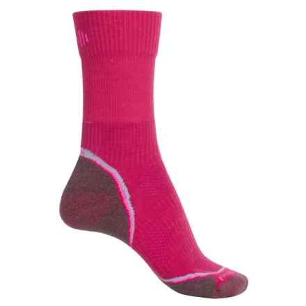 SmartWool PhD Outdoor Light Socks - Merino Wool, Crew (For Women) in Punch - Closeouts