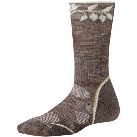 SmartWool PhD Outdoor Light Socks - Merino Wool, Crew (For Women) in Taupe