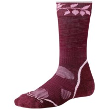 SmartWool PhD Outdoor Light Socks - Merino Wool, Crew (For Women) in Wine - 2nds