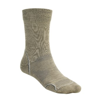 SmartWool PhD Outdoor Light Socks - Merino Wool (For Men and Women) in Oatmeal/Natural White