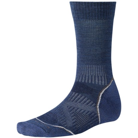 SmartWool PhD Outdoor Light Socks - Merino Wool, Lightweight, Crew (For Men and Women) in Cadet