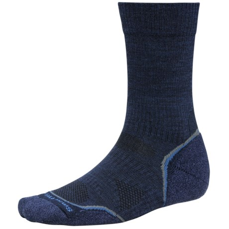 SmartWool PhD Outdoor Light Socks - Merino Wool, Lightweight, Crew (For Men and Women) in Navy