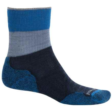 SmartWool PhD Outdoor Light Socks - Merino Wool, Quarter Crew (For Men and Women) in Deep Navy - Closeouts