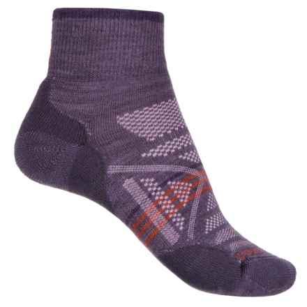 SmartWool PhD Outdoor Light Socks - Merino Wool, Quarter Crew (For Women) in Desert Purple - 2nds
