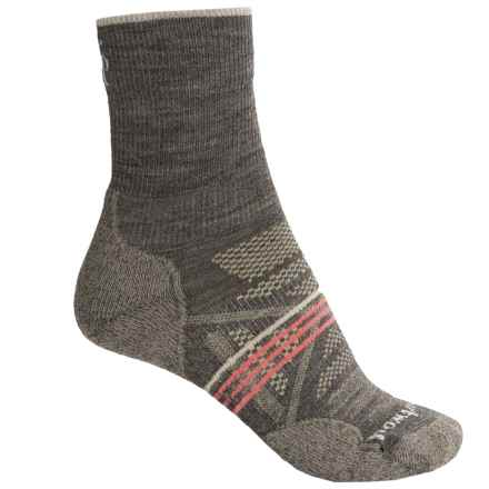 SmartWool PhD Outdoor Light Socks - Merino Wool, Quarter Crew (For Women) in Taupe - 2nds