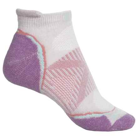 SmartWool PhD Outdoor Lightweight Micro Socks - Merino Wool, Below the Ankle (For Women) in Silver/Sapphire - Closeouts