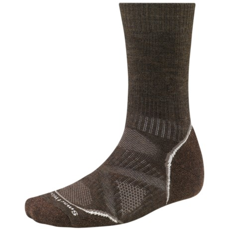 SmartWool PhD Outdoor Medium Crew Socks - Merino Wool (For Men and Women) in Chestnut