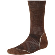 SmartWool PhD Outdoor Medium Crew Socks - Merino Wool (For Men and Women) in Espresso - 2nds