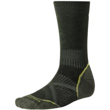 SmartWool PhD Outdoor Medium Crew Socks - Merino Wool (For Men and Women) in Forest - 2nds