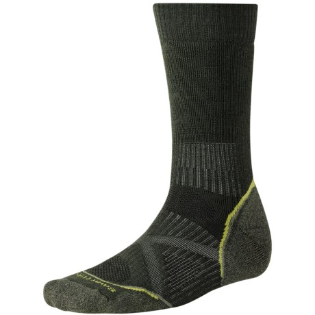 SmartWool PhD Outdoor Medium Crew Socks - Merino Wool (For Men and Women) in Forest