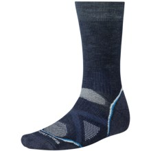 SmartWool PhD Outdoor Medium Crew Socks - Merino Wool (For Men and Women) in Navy - 2nds