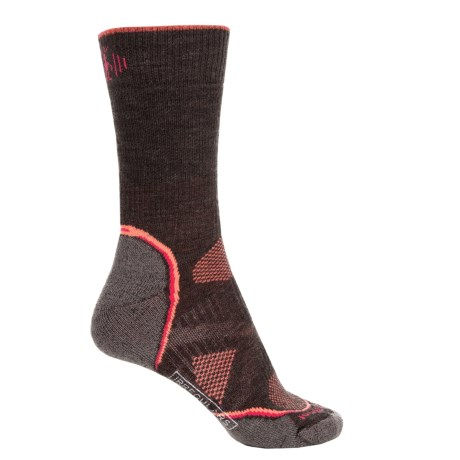 SmartWool PhD Outdoor Medium Crew Socks - Merino Wool, Midweight (For Women) in Chestnut