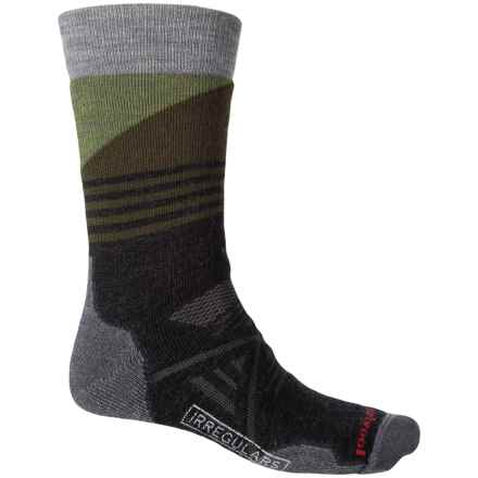 SmartWool PhD Outdoor Medium Pattern Socks - Merino Wool, Crew (For Men and Women) in Charcoal - 2nds